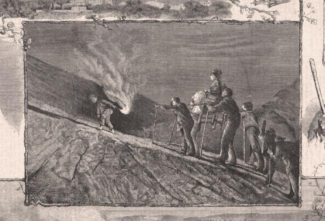 montée au Vésuve 19ème siècle